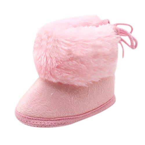 Tefamore Botas bebes de nieve de antideslizante de sole suave de moda invierno de calentar Rosa 2