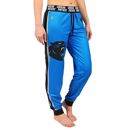 Klew Carolina Panthers Women's Polyfleece Workout Pants - Small by Klew