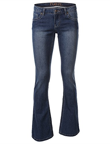 Rue21 Womens Bootcut Slim Jean With Embroidered Back Pocket Medium Wash Size 5 6 L