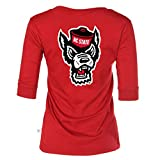 Official NCAA NC State Wolfpack - Women's 3/4 Sleeve Football V-Neck Tee