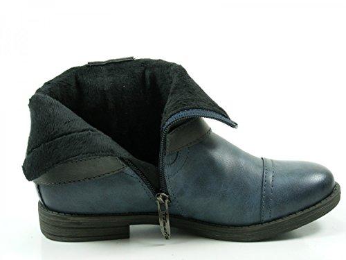 mujer Ankle 29 25396 Botines Tamaris para Blau 1 wqtxOOY