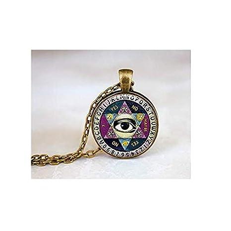 nuevo concepto 94433 1a16e Ouija Board collar, Vintage quiji Junta, Illuminati collar ...