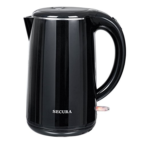 Secura The Original 1.8Qt Stainless Steel Double Wall Electric Tea Kettle with Auto Shut-Off & Boil Dry Protection Water Boiler (BPA-Free/FDA Certified/ETL Approved) by Secura