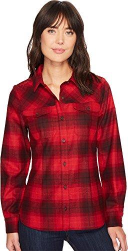 Pendleton Women's Christina Plaid Shirt Tonal Red Plaid Large (Tonal Plaid Shirt)