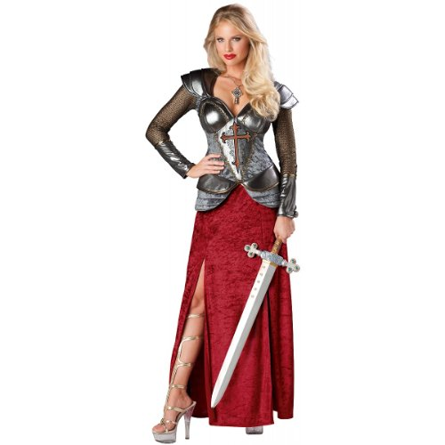 Joan Of Arc Costumes (InCharacter Costumes, LLC Women's Joan Of Arc Costume, Red/Silver, Small)