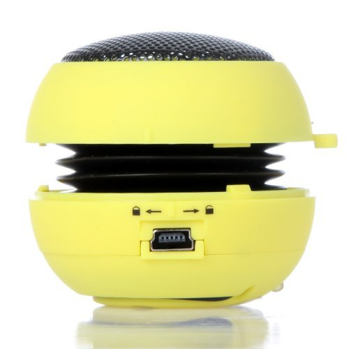 Docooler Mini Hamburg Speaker for iPhone iPad iPod Laptop PC MP3 Audio Amplifier (Yellow)