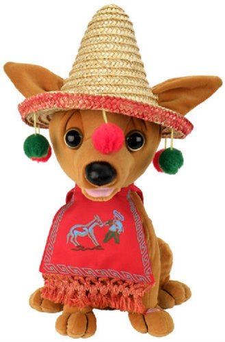 Pancho Christmas Singing Animated Chihuahua Dog sings Feliz (Mexican Bear)