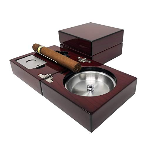 SIKARX Cigar Ashtray - Tray Design for Outdoor, Windproof, Indoor and Patio (SIKARX-3)