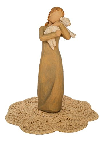 - Willow Tree Christmas Themed Figurines with Westbraid Doily (Peace on Earth)