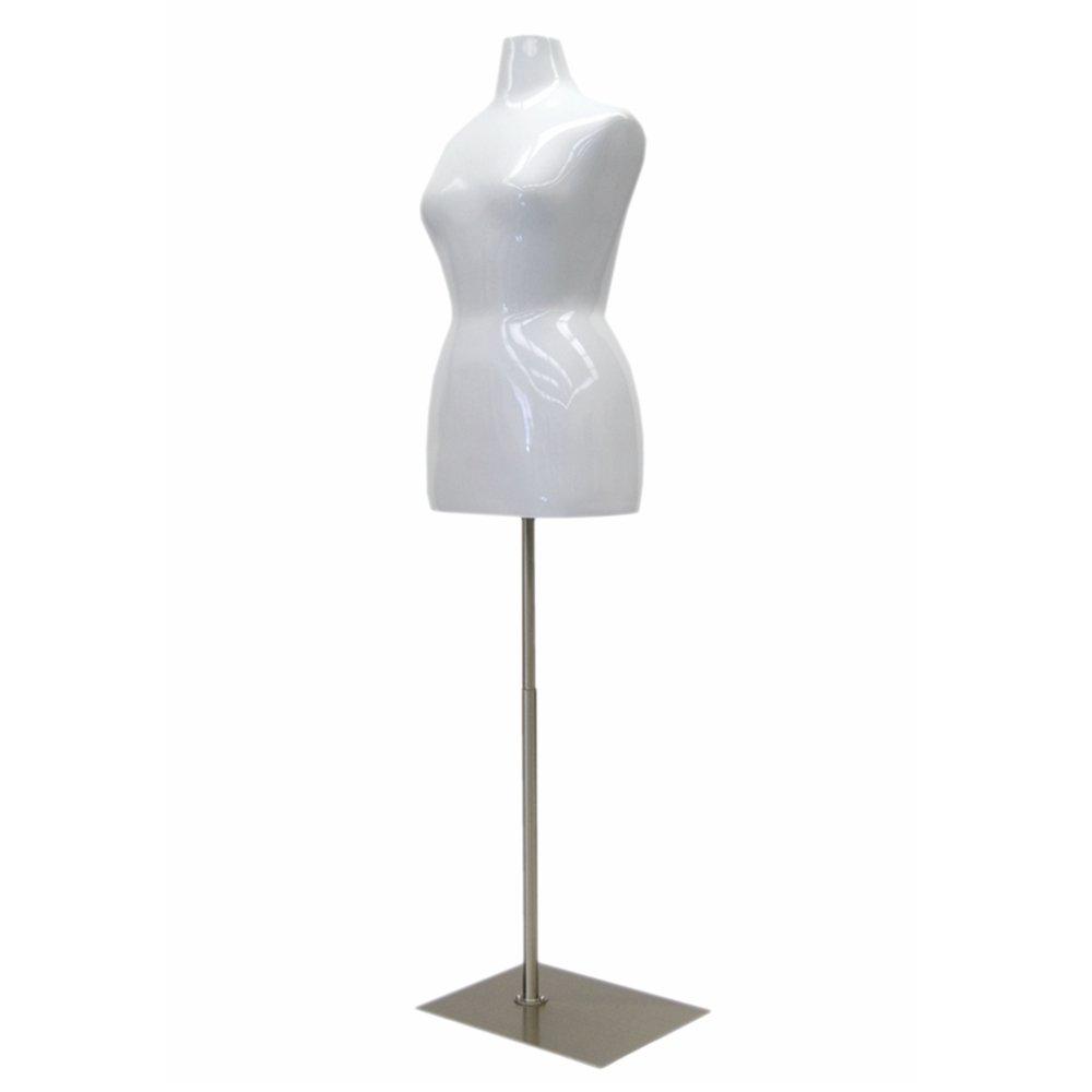 Fiberglass Size 10-12 Female Mannequin Torso #MD-FF10//12W1
