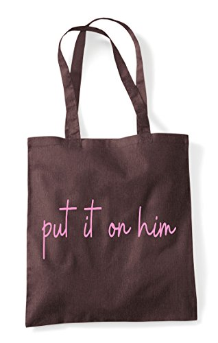Brown Put Him Statement On Tote Shopper Bag Hashtag Quote It qZqzBW7Ra