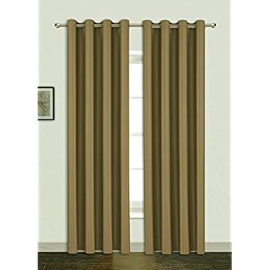 AmazonCurtains Ultra Precise Thickened Environment-friendly and Energy Saving Noise-Reducing Thermal Insulated Blackout Curtains for Bed Room ( One Pair, Chocolate, 52 x 108-Inch, excluding Rod )