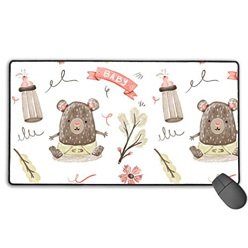 (GGlooking Mousemat Baby Bear Mouse Pad Gaming Mat Computer Mousepad Large Non-Slip Keyboard Desk Accessories,Office & School)