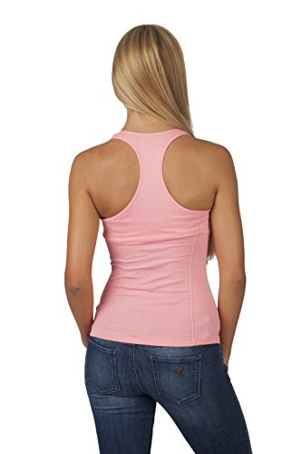 1f8fef008fbe9 Zeagoo Women s Adjustable Strap Built in Bra Padded Camisole. Basic Racer  Back Tank Top With Ribbed Sides and Built-In Bra