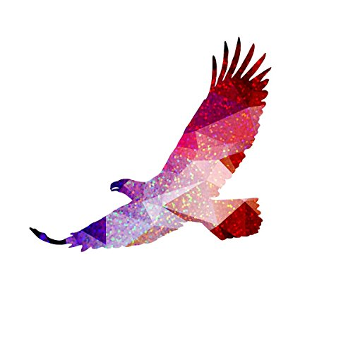 (Glitter Geometric Eagle Decal -Indoor and Outdoor use!)