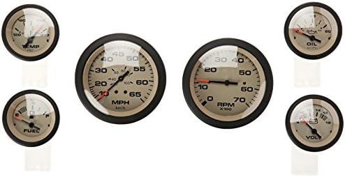 Sierra International 65485P Sahara 6-Gauge Set Includes Speed Tach Volt  Fuel Oil Pressure & Water Temp Gauges