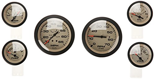 Sierra International 65485P Sahara 6-Gauge Set Includes Speed Tach Volt Fuel Oil Pressure & Water Temp Gauges ()