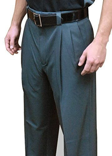 Smitty 4-Way Stretch Pleated Umpire Plate Pants (Charcoal Gray, 36)
