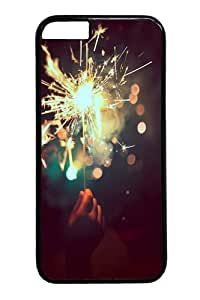 Brilliant fireworks 6 Polycarbonate Hard Case Cover for iPhone 6 4.7 inch Black