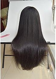 YAMEIJIA 8''-26'' Silky Straight Human Hair Wigs Malaysian Virgin Hair pre plucked Wigs Straig
