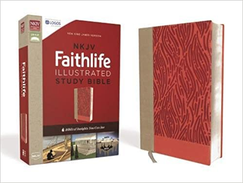 NKJV, Faithlife Illustrated Study Bible, Leathersoft, Pink