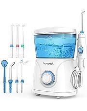 Water Flosser for Teeth,Homgeek Dental Oral Irrigator Teeth Water Jet Cleaner Flosser,600ML High Capacity Power Teeth Flosser with 10 Pressure Setting & 7 Jet Nozzles,FDA Approved