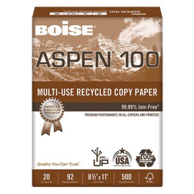 - CAS054922 - Boise Aspen 100% Recycled Office Paper