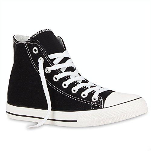 Herren Schuhe Sneakers Sneaker High Denim Turnschuhe Camouflage Stoffschuhe Schnürer Flandell Schwarz Ambler