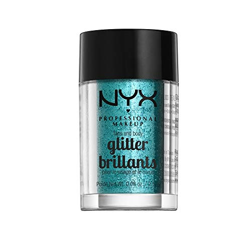 NYX PROFESSIONAL MAKEUP Face & Body Glitter, Teal