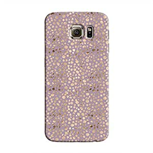 Cover It Up - Brown Violet Pebbles Mosaic Galaxy S6 Hard Case