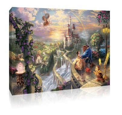 Beauty & The Beast Canvas - 30x20 Inch Disney Framed Picture: Amazon ...