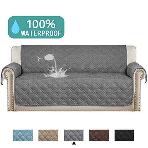 (Turquoize Waterproof Oversized Sofa Covers for Living Room Couch Cover Quilted Furniture Protector Covers for Leather Furniture Sofa Protectors Non Slip Lounge Covers (Sofa Oversize,86