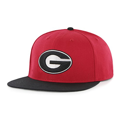 NCAA Georgia Bulldogs Gallant OTS Varsity Snapback Adjustable Hat, One Size, Red