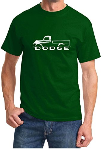 1948-53 Dodge B-Series Pickup Truck Classic Outline Design Tshirt XL forest