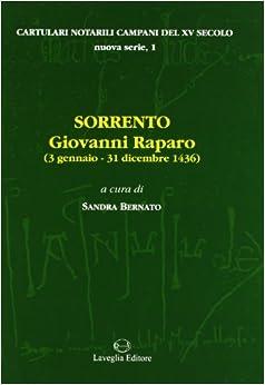 Book Sorrento: Giovanni Raparo (3 gennaio-31 dicembre 1436)