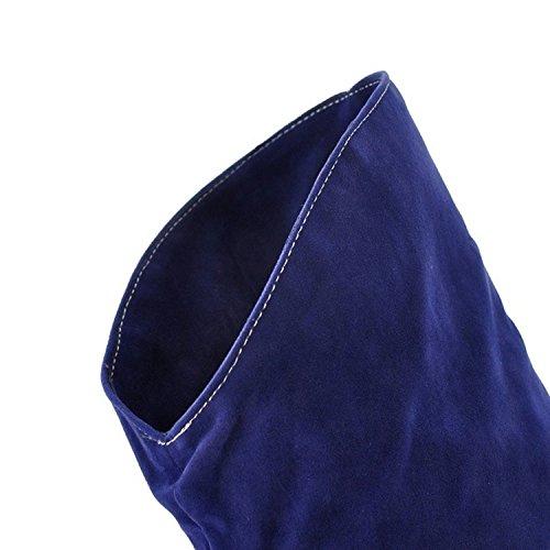 ginocchio donna con Nonbrand materiale in Blue da sintetico tacco sottile al I5awtw