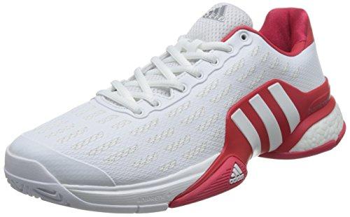 adidas Barricade 2016 Boost, Scarpe da Tennis Uomo Bianco (Varios Colores (Blanco (Ftwbla / Ftwbla / Rojray)))