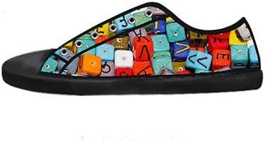 Custom Mens Fashion DIY Image Alphabet New Sneaker Canvas Shoes