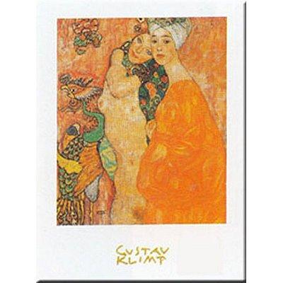 (10x12) Gustav Klimt Girl Friends Art Print Poster