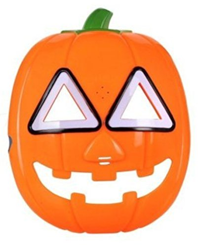Halloween Pumpkin LED Flash light Mask With Sound Glow Eye Party Costume Decorations ( Pumpkin )