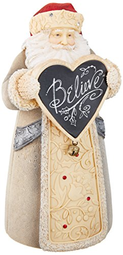 Enesco Department 56 Heart of Christmas Mini Santa Believe Stone Resin Figurine, 5.12