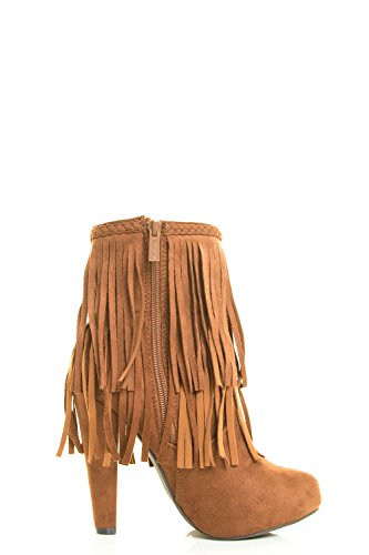 Breckelles Kvinna Mandel Tå Cowboykänga Dubbla Lager Frans Boot Bootie Tan