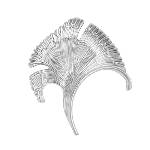 eaf Elegant Brooch Suit Lapel Pin Wearable Art 3 Tone (Silver) ()