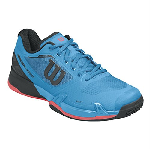 Wilson Wrs322890e085, Chaussures de Tennis Homme, Bleu (Methyl Blue / Black / Fiery Coral), 42 2/3 EU