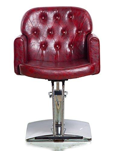 Hydraulic Styling Chair Set (Shengyu Brown Hydraulic Styling Barber Chair Hair Spa Beauty Salon Equipment)