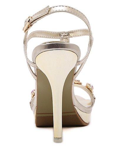 LFNLYX Zapatos de mujer-Tacón Stiletto-Tacones / Punta Abierta / Comfort / Innovador / Punta Redonda / Botas a la Moda / Zapatos y Bolsos a Juego golden