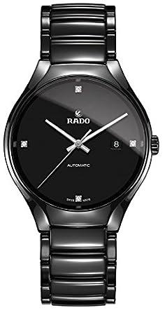 rado men s true 40mm black ceramic band case automatic watch rado men s true 40mm black ceramic band case automatic watch r27056722