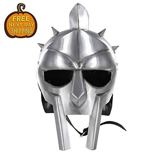 Antique Replica Full-Size Metal Gladiator Maximus Arena Helmet