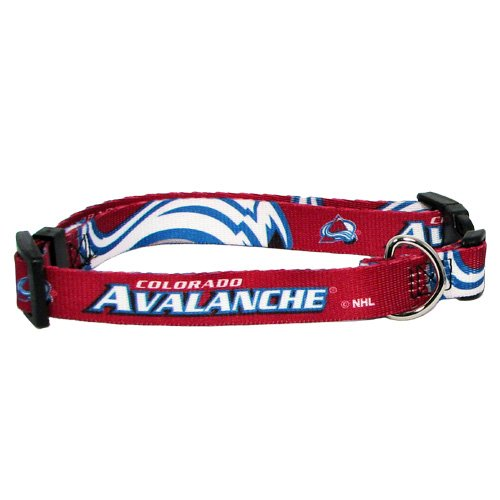 Hunter Mfg. LLP NHL Colorado Avalanche Adjustable Pet Collar, Team Color, Medium