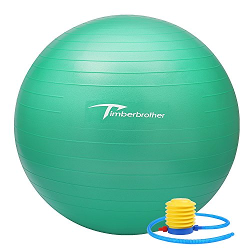 """Timberbrother Exercise Ball (45cm-85cm), Yoga Ball Chair with Pump, Stability Fitness Ball with Workout Poster 16.5""""x 22…"""